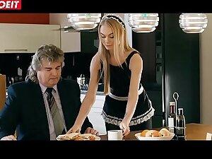 LETSDOEIT - Astounding Blonde Maid Gets Fucked In SchoolGirl Uniform (Nancy A)