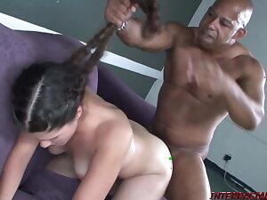 18yo Carmela Whimpers through this Lambently Pussy Pounding