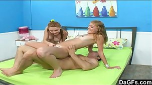Hot threesome with teens next going in
