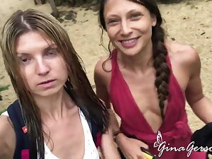 Gina Gerson and Talia Mint enjoy morose vacation time