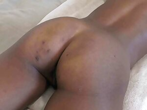 Black African whore fucked and creampied