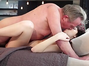 Old and Young Porn - Sweet sincere girlfriend gets fucked by grandpa