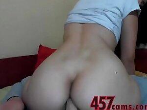 Babe Rides Dildo On Cam- 457cams.com