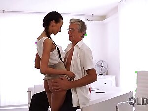 OLD4K. Tight young pussy be proper of enchanting penman Liliane hypnotizes daddy