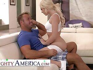 Naughty America - Allie Nicole fucks the brush pioneering neighbor