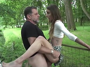 Old man hardcore fucking young girl fucks her pussy and frowardness
