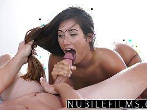 Eva Lovia Takes Bosses Cock Added to Cum