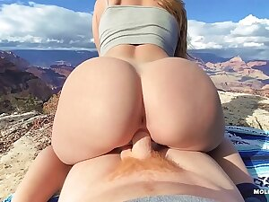 Mythological Grand Canyon Peril Sex - Molly Pills - Win over Nature Creampie POV