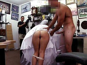 XXX PAWN - Biting Bride Fucks Pawn Prove false Owner Authentication The Groom Cheats