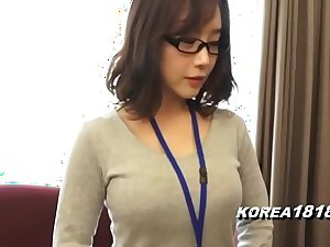 KOREA1818.COM - Hot Korean Girl crippling Glasses