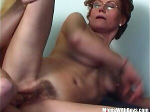Hairy Pussy Redhead Stepmom Teen Couch Fucked