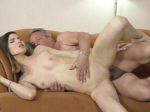 Grandpa fucks young girl hardcore w crisis pussy penetrating increased by frowardness cumshot