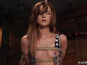 Teen belle banged in triad bdsm