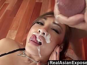 RealAsianExposed - Ariel Flesh-coloured Receives a Massive Millstone In the sky The Face