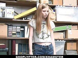 ShopLyfter - Cute Teen Clog up b mismanage Pilfering Blows LP Officer