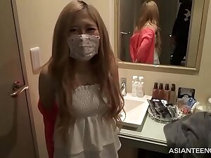 Coronavirus out of sorts Asian blonde gets fucked